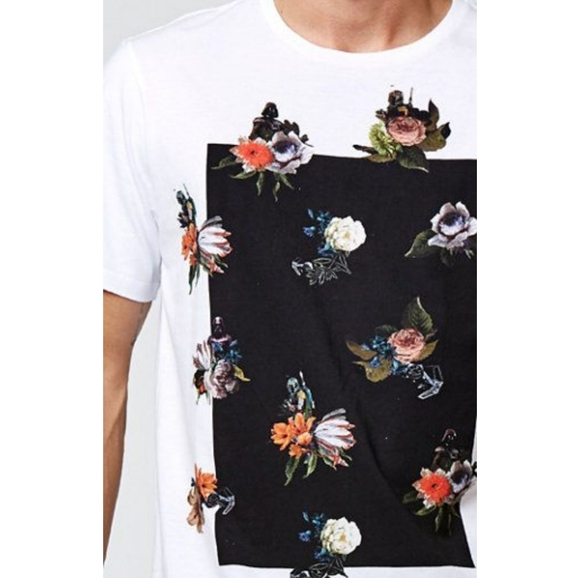 Mens Star x War On The Byas Floral Graphic T Shirt